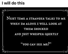 I will do this