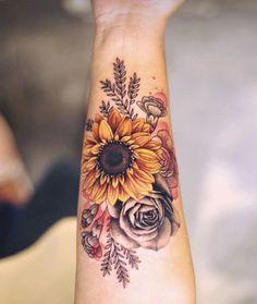 39 Impressive Black And White Sunflower Tattoo Ideas 39 Impressive Black And White Sunflower Tattoo Ideas,Tattoos, Piercings and Bodymods Pretty Tattoos, Love Tattoos, Beautiful Tattoos, Body Art Tattoos, New Tattoos, Small Tattoos, Tatoos, Awesome Tattoos, Feminine Tattoos