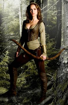 Natalie Portman's archer outfit in Your Highness. Except for the top being too low, this is pretty awesome