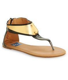 Black glider Sandal