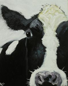 Cow portrait animal painting 665 inch original oil painting by Roz Cow Paintings On Canvas, Farm Paintings, Animal Paintings, Cow Art, Cow Wall Art, Cow Pictures, Farm Art, Whimsical Art, Collage