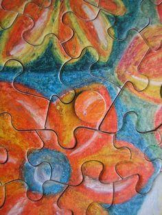 """Puzzle """"O Vôo do Beija-Flor"""" - Método """"buraco/botão"""" para possibilitar o movimento 1 - Por Antônia Sobral"""