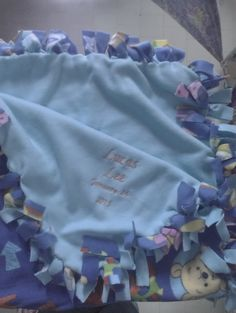 Pooh bear Personalized baby blanket! Unique name announcement idea! Amazing baby shower gift! Customized with a name and birthdate! Get yours today at www.kiyswonders.storenvy.com Embroidered Blankets, Best Baby Shower Gifts, Unique Names, Personalized Baby Blankets, Pooh Bear, Embroidery Patterns, Announcement, Amazing, Personalised Baby Blankets