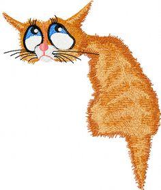free embroidery designs | Cat nostalgic free machine embroidery design for embroidery library