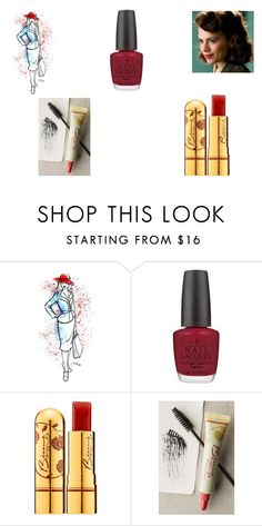 """""""Agent Peggy Carter"""" by nicola-humphreys ❤ liked on Polyvore featuring beauty, Atwell and OPI"""
