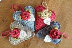 Ravelry: Tweetinat's Rose Heart Hangers