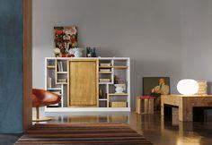 Marchetti mobilificio d'arte s.p.a. - Bookcase with sliding doors - 100% hand made in Italy www.marchettimaison.com