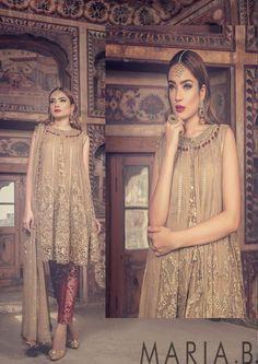 Check Out Maria B. Bridal Collection 2017 Replica at Master Replica Pakistan New Pakistani Dresses, Pakistani Dress Design, Pakistani Designers, Bridal Collection, Dress Collection, Maria B Bridal, Pakistani Street Style, Indian Designer Wear, Designer Dresses