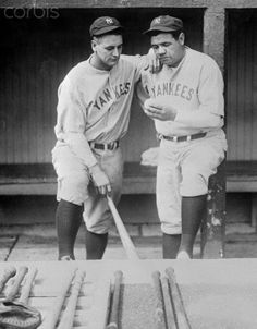 Lou Gehrig and Babe Ruth Holding Ball from 500th Home Run