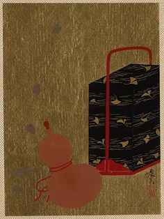 Shibata Zeshin | lacquer painting of Lacquer Box and Gourd | Japan | Edo period (1615–1868) | The Met