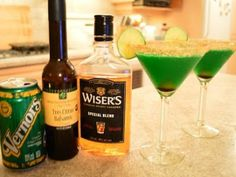 Angry Leprechaun Cocktail - Just In time for St. Patrick's Day! If unable to find Tres Citrus Balsamic Vinegar substitute with equal amounts of tangerine OR blood orange  balsamic AND meyer lemon balsamic