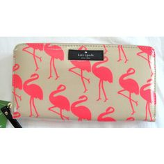 Authentic NWT NEW Kate Spade Flamingo Daycation Neda Wallet ...