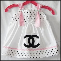 chanel inspired baby girl's dress from etsy.