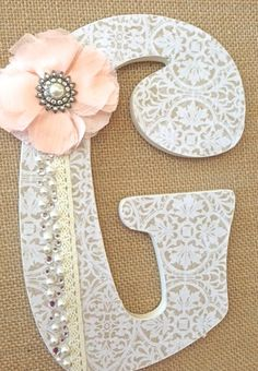 Custom Wooden Nursery Letters, Baby Girl Nursery Decor, Wall Hanging, Personalized Name-The Rugged Pearl