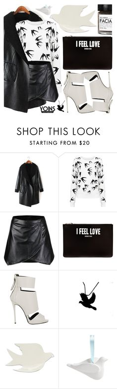 """""""Yoins Collection"""" by pastelneon ❤ liked on Polyvore featuring Givenchy, Giuseppe Zanotti, Jonathan Adler, Fig+Yarrow, cool, Leather, blackandwhite and yoins"""