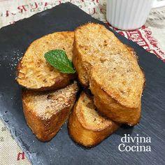Estas torrijas de leche condensada al horno son más rápidas de hacer que las tradicionales y nos ahorramos toda la fritura y algunas calorías.