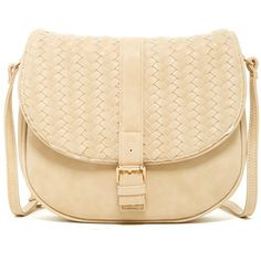 Deux Lux Rivington Saddle Bag ($40) ❤ liked on Polyvore featuring bags, handbags, shoulder bags, sand, shoulder strap bag, beige shoulder bag, beige purse, deux lux and strap purse