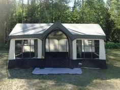 Northwest Territory Olympic Cottage Deluxe Cabin Tent I just might go camping in that!