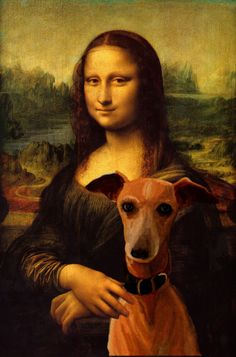 Mona Lisa with dog. Mona Lisa -More Pins Like This At : FOSTERGINGER @ Pinterest.