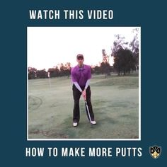 How to make more putts on the golf course and lower your scores. Golf Putting Tips, Putt Putt, Golf Tips, Troy, Scores, Golf Courses, Baseball Cards, How To Make, Instagram