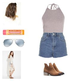 """""""Untitled #295"""" by kasety13 ❤ liked on Polyvore featuring Topshop, Forever 21, Burt's Bees and Ray-Ban"""