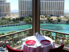 The Eiffel Tower Restaurant has one of the best views along the Strip.