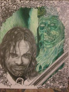 not done yet, but soon, i hope...aragon and the king of dunharrow from lord of the rings