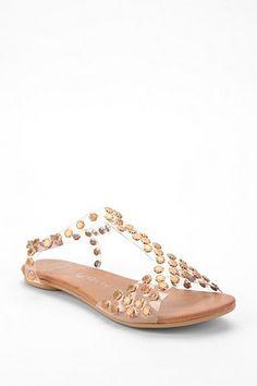 Jeffrey Campbell Metal Flower Puffer Sandal