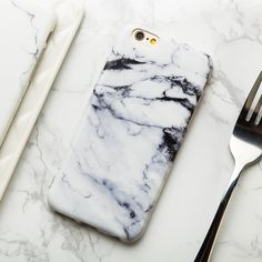 Black & White Marble iPhone 7 Case iPhone 7 Plus by CoolTeesOnline