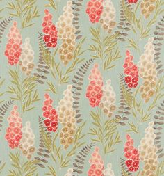 Harlequin Delphinia Fabric - Seaglass Coral Lime Neutral 120004