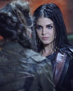 "Promotional photos from the next episode of #The100, ""Exit Wounds"" . . . #marieavgeropoulos #octaviablake #octaviakomskaikru…"