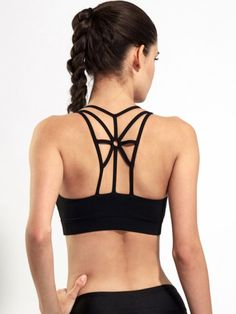 7f9e3f4cfedb8 Back Strappy Fitness Sport Bra Women Shockproof Breathable Running Yoga Bras  Tank Tops-GoAmiroo Store