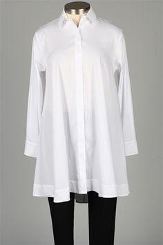 Comfy USA - Back Zipper Shirt - White