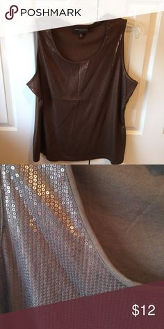 Dana Buchman brown sequined tank top Cute brown sequined tank in mint condition and only worn once from a smoke free and dog friendly home. Dana Buchman Tops Tank Tops