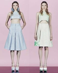 The Raffaele Ascione SS13 Lookbook Boasts Clean Lines and Bared Midriffs #fashion trendhunter.com