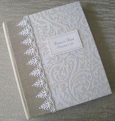 Wedding Photo Album with beaded White Lace Customized by Daisyblu, $75.00