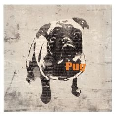 pug art...looks like my beast