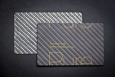 ★★★★☆  The carbon fiber business cards of Pure Metal Cards, a business card printing company. Unlike most carbon fiber business cards, thes...