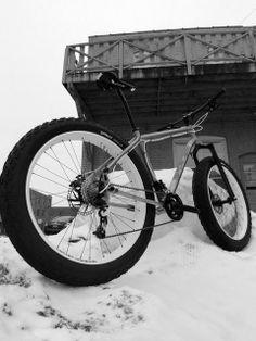 Fancy - Mikes Mukluk custom made Ti snow fat bike #fatbike #bicycle