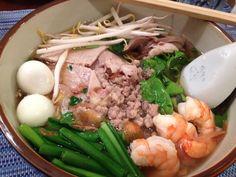 Hu tieu nam vang. (Phnom Penh style noodle soup)