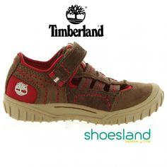 Sandalias de Timberland para niños en color marrón cerradas por delante y por detrás para caminar todo el día muy cómodos en verano.  Desde el 33 AL 40