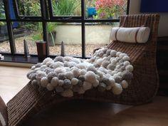 My 1st pom pom rug