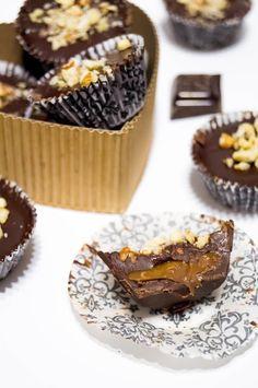 Chocolate Hazelnut Caramel Cups