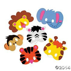 Safari Jungle Mask Craft Kits -12 Pk