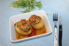 Pommes de terre farcies au boeuf Chez Vanda, Baked Potato, Potatoes, Baking, Ethnic Recipes, Food, Stuffed Potatoes, Fish, Greedy People