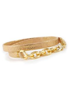 #Gold #Cuero #Piel #Pulsera #Leather