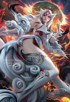 Personified Amaterasu by Sakimich