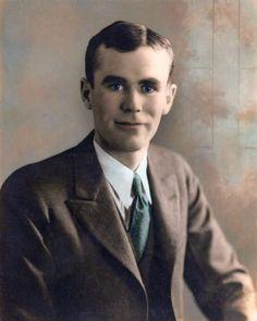 Joseph Bailey Cole, 1906-1976, photo ca.1929, after restoration by his son Joe Bailey Cole Jr.