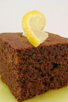 Warm Gingerbread with Lemon Sauce