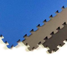 Foam Mats Economy 1/2 Inch blue, black, gray tile.